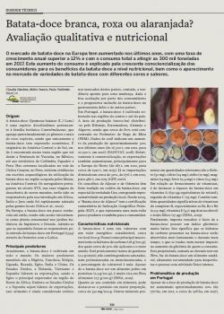 Batata-doce branca, roxa ou alaranjada? Avaliação qualitativa e nutricional